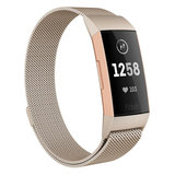 Fitbit Charge 3 & 4 milanese bandje (small)  - Vintage goud_
