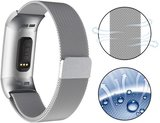 Fitbit Charge 3 & 4 milanese bandje (large) - Zilver_