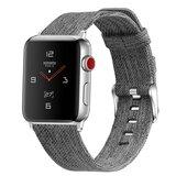 Apple Watch 42mm / 44mm - Canvas bandje - Grijs_