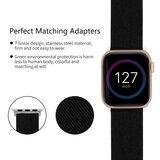 Apple Watch 42mm / 44mm - Canvas bandje - Zwart_