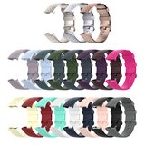 Fitbit Charge 3 & 4 siliconen diamant pattern bandje (Large)  - Donker paars_