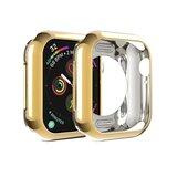 Siliconen case 40mm - Goud - Geschikt voor Apple Watch 40mm_