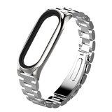 Metalen schakelarmband voor Xiaomi Mi Band 3/4/5/6 - Zilver_
