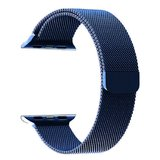 Milanees Apple watch bandje 42mm RVS - Blauw_