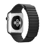 PU leather loop Apple watch 38mm / 40mm bandje - Zwart_