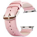 Kakapi crocodile 38mm / 40mm leer - Roze_