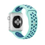 Apple watch sportbandje 38mm / 40mm - Blauw + Groen_