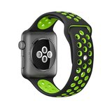 Apple watch sportbandje 38mm / 40mm - Zwart + Groen_