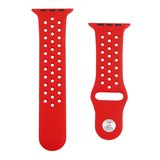 Apple watch holow edition sport band 38mm / 40mm - Rood_