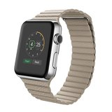 PU leather loop Apple watch 38mm / 40mm bandje - Licht bruin_