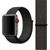 Sport loop Apple watch bandje 38mm / 40mm - Zwart_