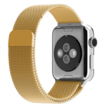 Milanees Apple watch 38mm / 40mm bandje RVS - Goud_