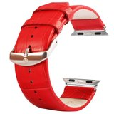 Kakapi crocodile 42mm / 44mm leer - Rood_
