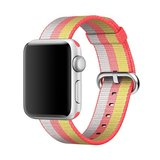 Nylon Apple watch 42mm / 44mm bandje - Rood / Geel_