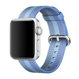 Nylon Apple watch 42mm / 44mm bandje - Blauw / Licht blauw_