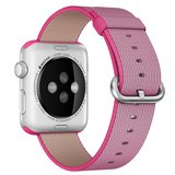 Nylon Apple watch 42mm / 44mm bandje - Roze_