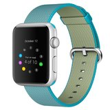 Nylon Apple watch 42mm / 44mm bandje - Blauw_