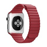 PU leather loop Apple watch 42mm / 44mm bandje - Rood_