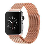 Milanees Apple watch bandje 42mm / 44mm RVS - Champagne goud_