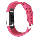 Fitbit Charge 2 siliconen bandje, Lengte: 23CM - Magenta_