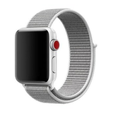 Sport loop Apple watch bandje 42mm / 44mm - Wit_