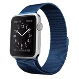 Milanees Apple watch bandje 42mm / 44mm RVS - Blauw_