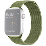 Milanees Apple watch bandje 42mm / 44mm RVS - Groen_