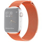 Milanees Apple watch bandje 38mm / 40mm RVS - Oranje_