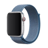 Sport loop Apple watch bandje 42mm / 44mm - Denim blauw_
