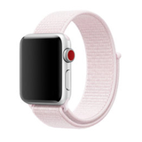 Sport loop Apple watch bandje 42mm / 44mm - Zacht roze_