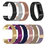 Fitbit Charge 3 milanese bandje (large) - Bruin _