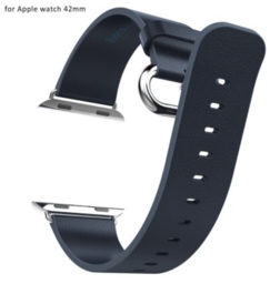 HOCO Apple watch bandje 42mm leer Navy blue - pago style