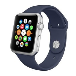 Apple watch 42mm rubberen sport bandje - Donker blauw