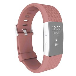 Fitbit Charge 2 siliconen bandje, Lengte: 23CM - Coffee
