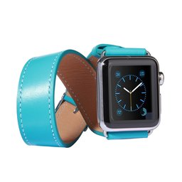 Apple watch 42mm double strap - Turquoise