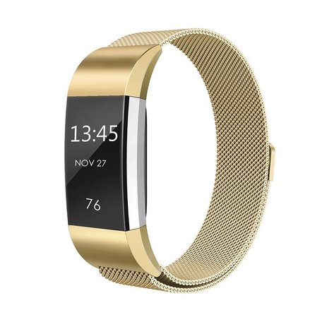 Fitbit Charge 2 milanese bandje - Goud