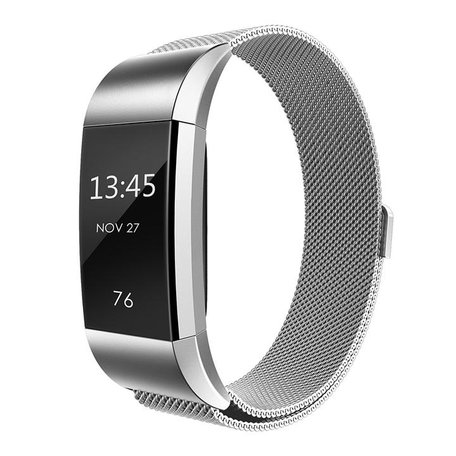 Fitbit Charge 2 milanese bandje - Zilver