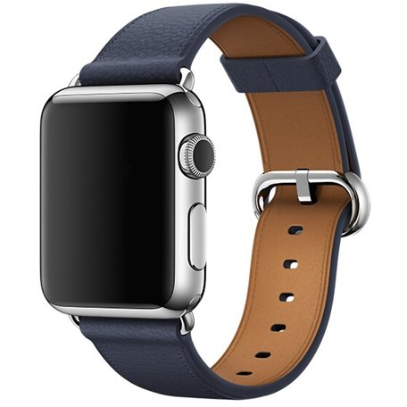 Apple watch classic lederen band 42/44 mm - Midnight blue