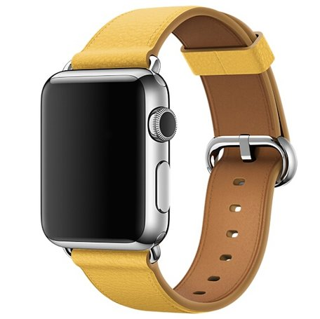 Apple watch classic lederen band 38/40mm - Geel
