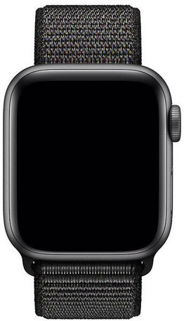 Sport loop Apple watch bandje 42mm / 44mm - Zwart