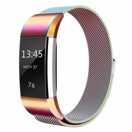 Fitbit Charge 2 milanese bandje (Large) - Multicolor