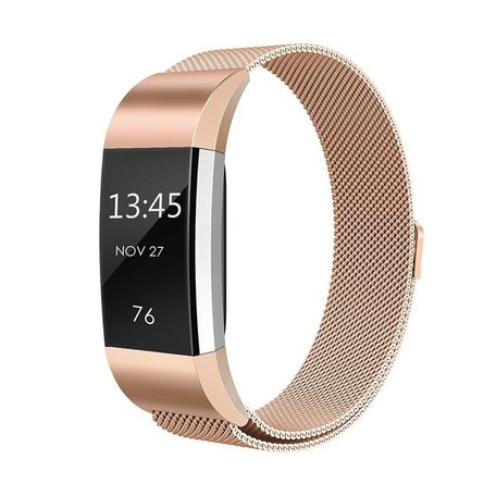 Fitbit Charge 2 milanese bandje (Large) - Champagne goud