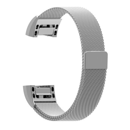 Fitbit Charge 2 milanese bandje (Large) - Zilver