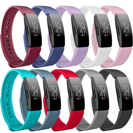 Fitbit Inspire HR siliconen bandje (Large) - Baby roze