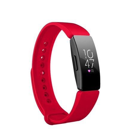 Fitbit Inspire HR siliconen bandje (Large) - Rood