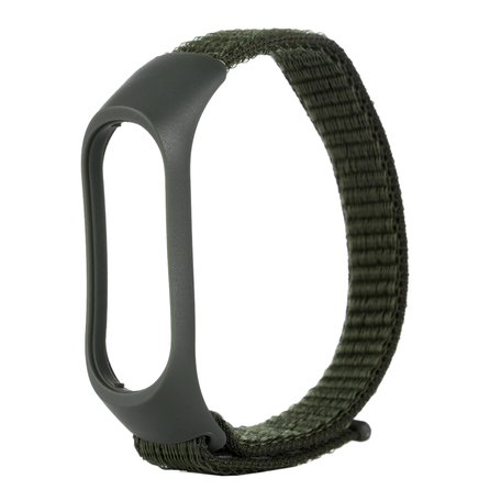 Nylon Geweven Bandje Xiaomi Mi Band 3 / 4 - Legergroen