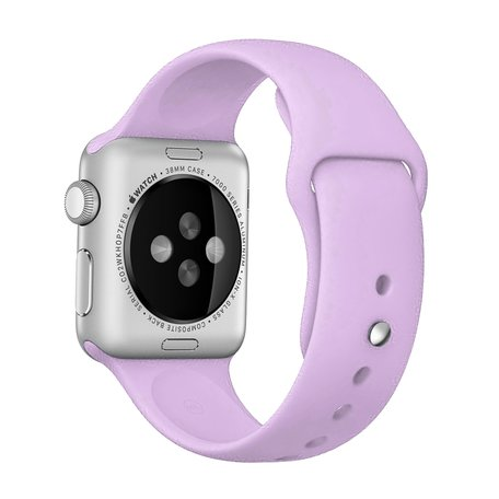 Apple watch 42mm / 44mm rubberen bandje sport - Paars