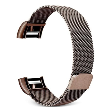 Fitbit Charge 2 milanese bandje (Small) - Bruin