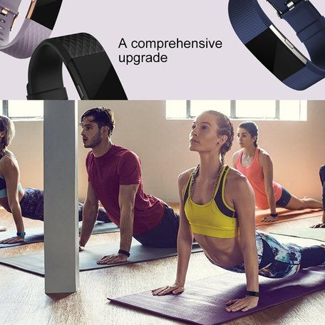 Fitbit Charge 2 siliconen bandje (Small) - Coffee
