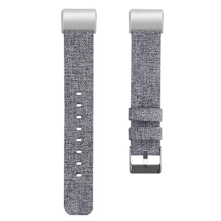 Fitbit Charge 2 Canvas Bandje (Large) - Licht Grijs